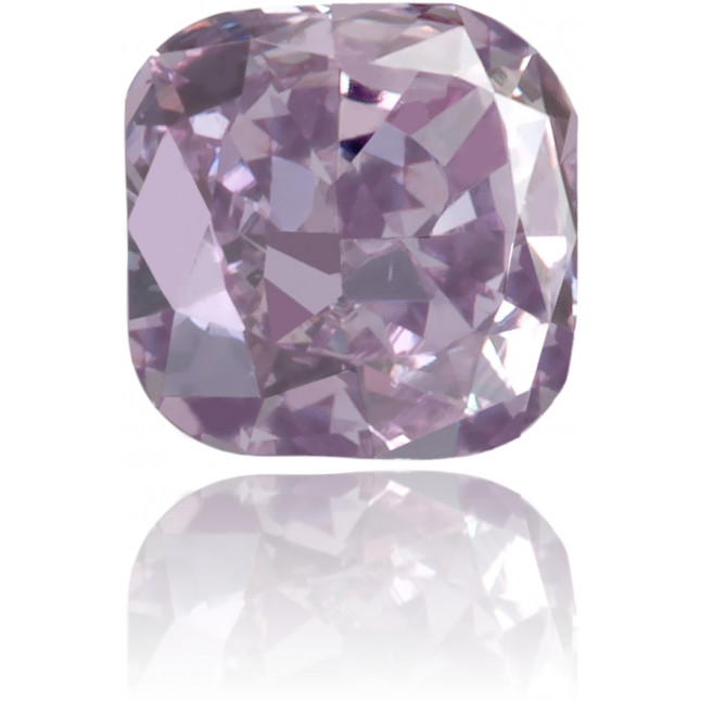 Natural Purple Diamond Square 0.14 ct Polished