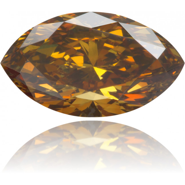 Natural Orange Diamond Marquise 0.84 ct Polished