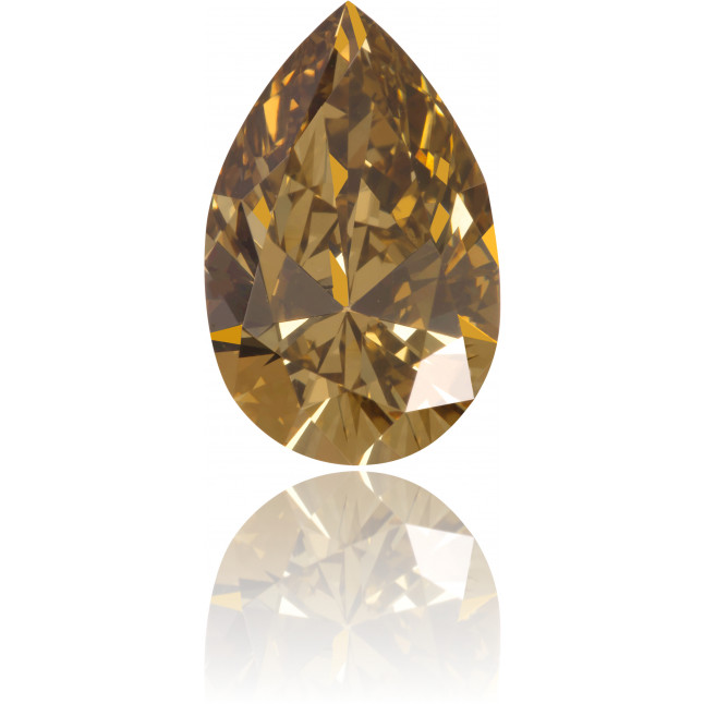 Natural Brown Diamond Pear Shape 2.16 ct Polished
