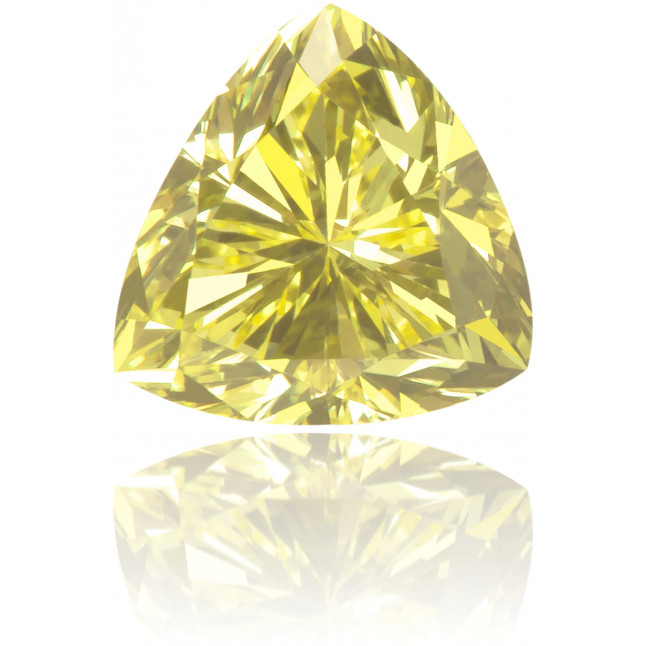 Natural Yellow Diamond Triangle 0.43 ct Polished