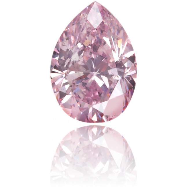 Natural Purple Diamond Pear Shape 0.13 ct Polished