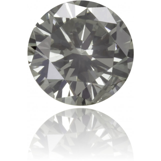 Natural Gray Diamond Round 0.31 ct Polished