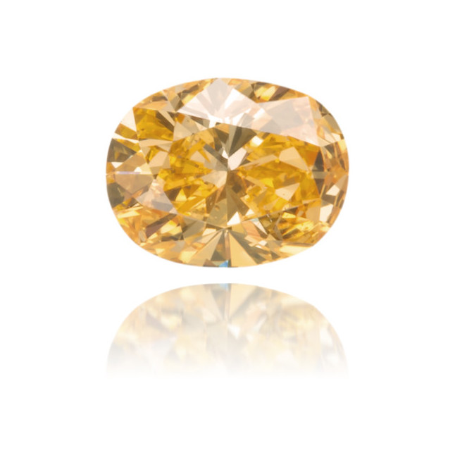 Natural Orange Diamond Oval 0.16 ct Polished