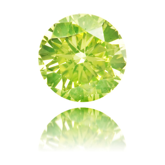 Natural Green Diamond Round 0.17 ct Polished