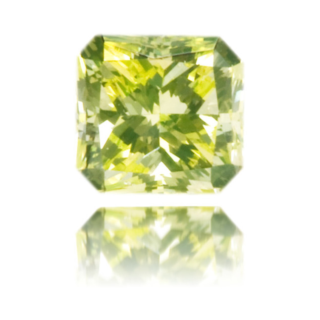 Natural Green Diamond Square 0.18 ct Polished