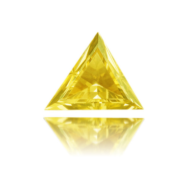 Natural Green Diamond Triangle 0.19 ct Polished