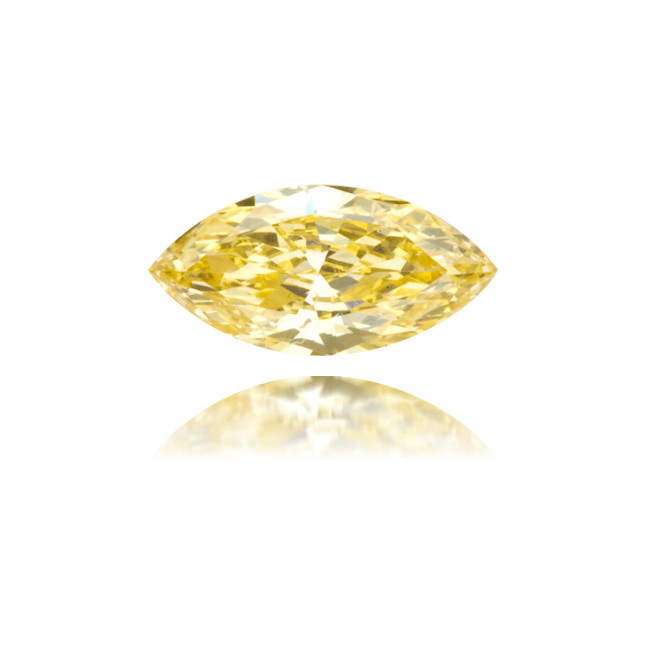Natural Orange Diamond Marquise 0.20 ct Polished