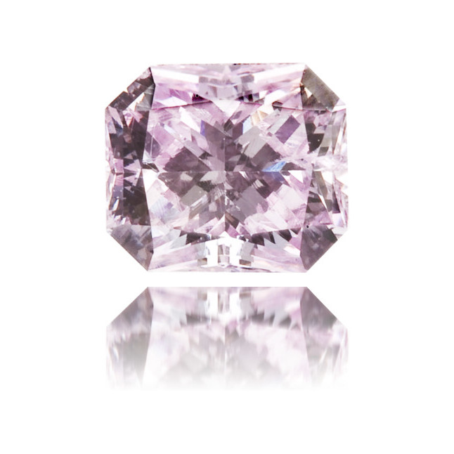 Natural Purple Diamond Rectangle 0.23 ct Polished
