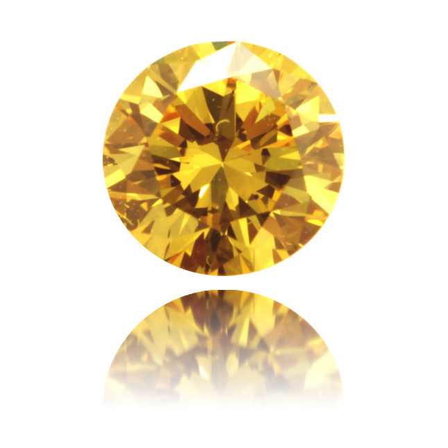 Natural Yellow Diamond Round 0.25 ct Polished