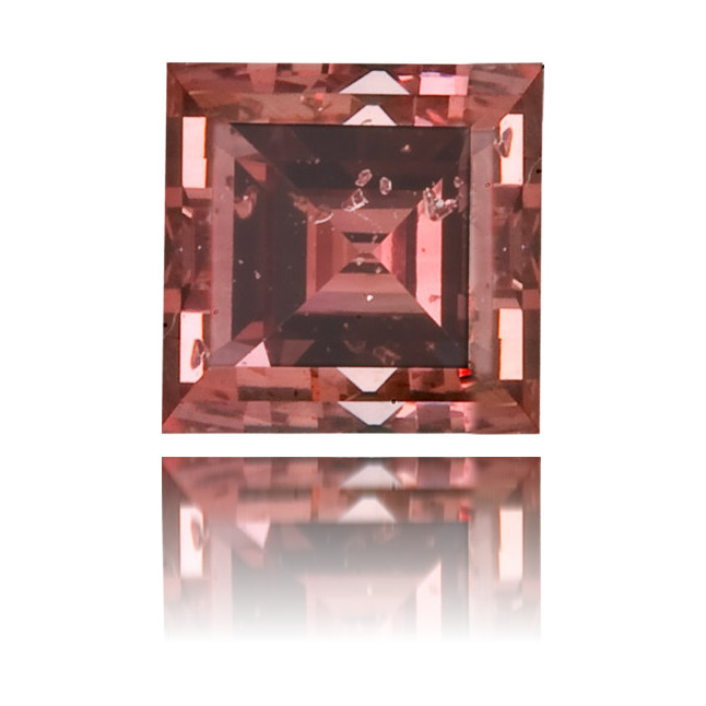 Natural Pink Diamond Square 0.27 ct Polished