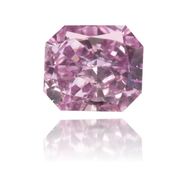 Natural Purple Diamond Rectangle 0.31 ct Polished