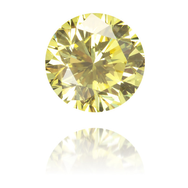 Natural Yellow Diamond Round 0.41 ct Polished