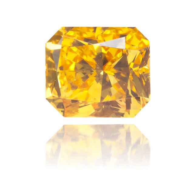 Natural Orange Diamond Rectangle 0.50 ct Polished