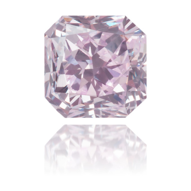 Natural Purple Diamond Square 0.52 ct Polished