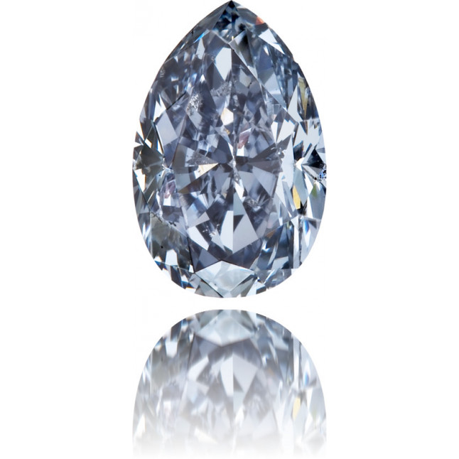 Natural Blue Diamond Pear Shape 0.52 ct Polished