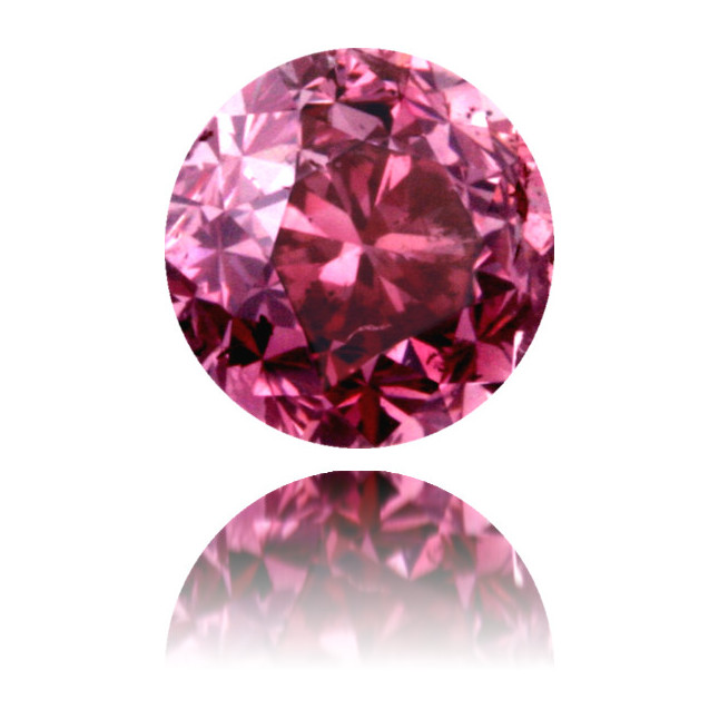 Natural Pink Diamond Round 0.53 ct Polished