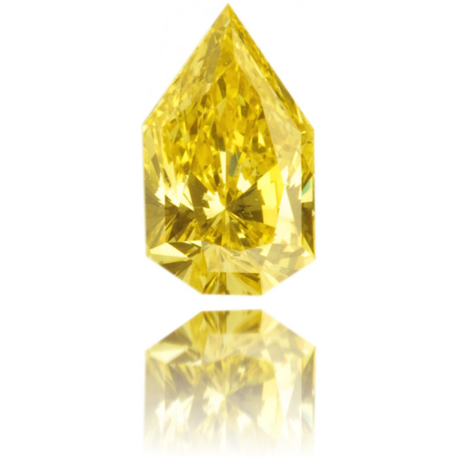 Natural Yellow Diamond Pear Shape 0.57 ct Polished