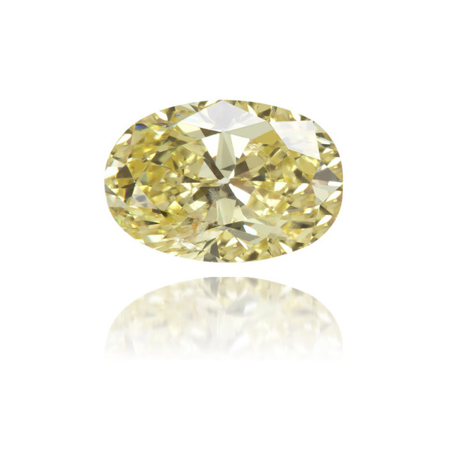 Natural Yellow Diamond Oval 0.65 ct Polished