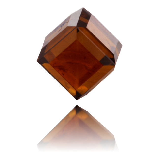 Natural Orange Diamond Cube 0.73 ct Polished