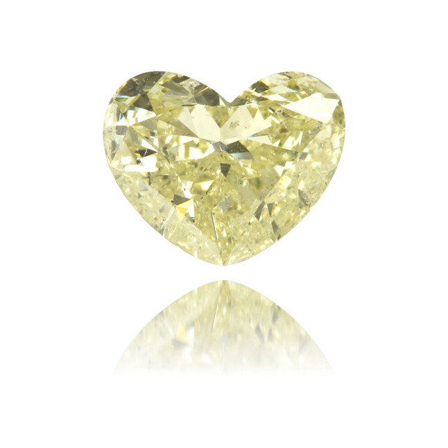 Natural Yellow Diamond Heart Shape 0.84 ct Polished