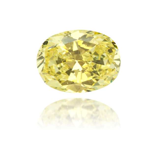 Natural Yellow Diamond Oval 0.84 ct Polished