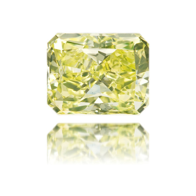 Natural Green Diamond Rectangle 0.84 ct Polished