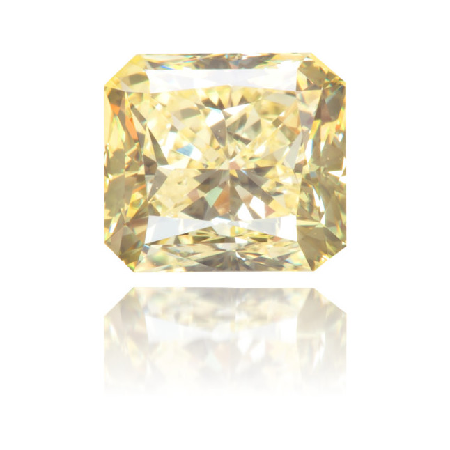 Natural Yellow Diamond Square 0.85 ct Polished