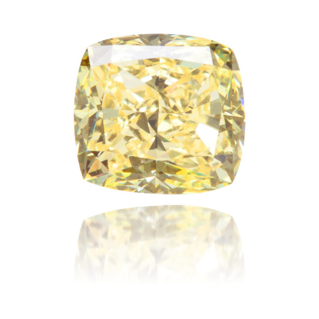 Natural Yellow Diamond Square 0.86 ct Polished
