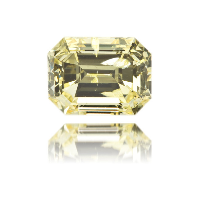 Natural Yellow Diamond Rectangle 0.87 ct Polished