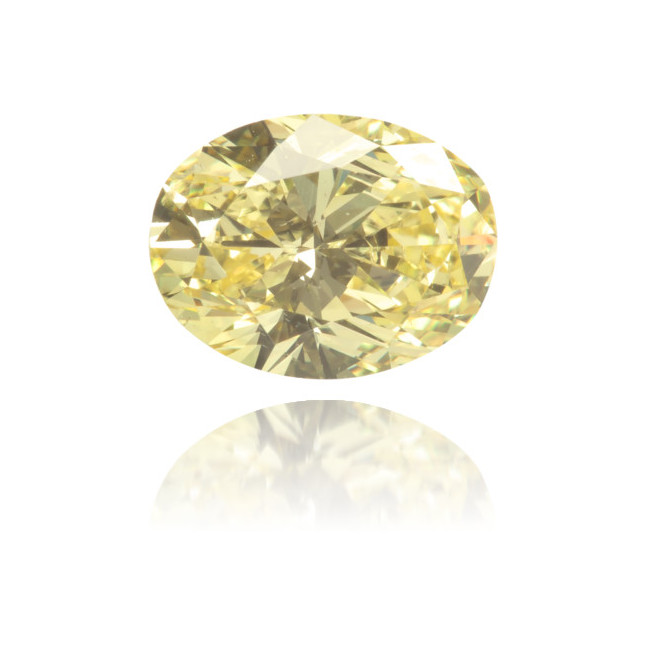 Natural Yellow Diamond Oval 0.87 ct Polished