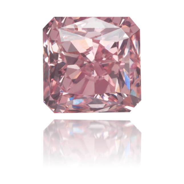 Natural Pink Diamond Square 0.87 ct Polished