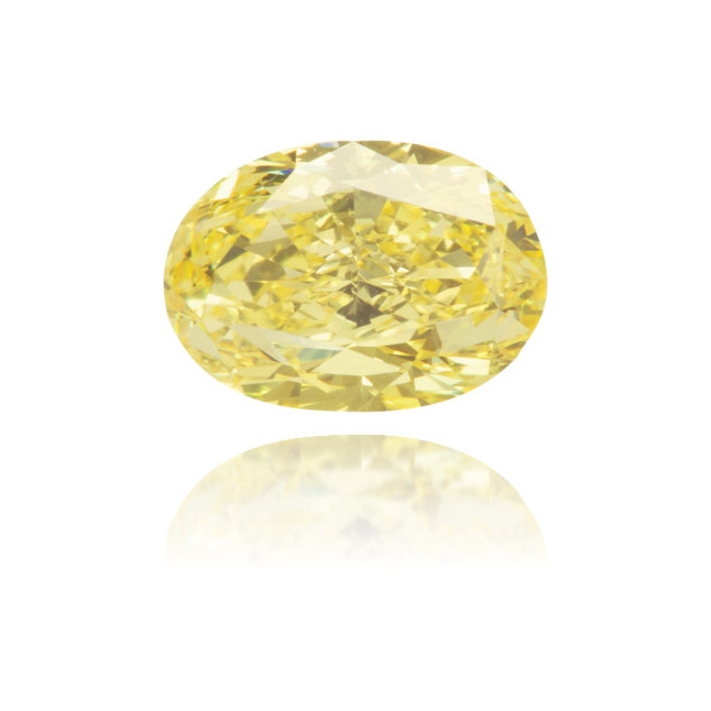 Natural Yellow Diamond Oval 0.88 ct Polished