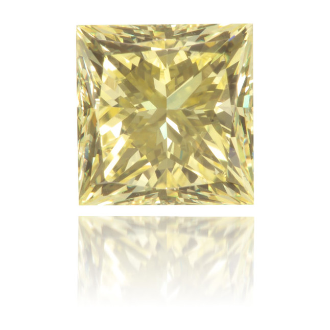 Natural Yellow Diamond Square 0.90 ct Polished