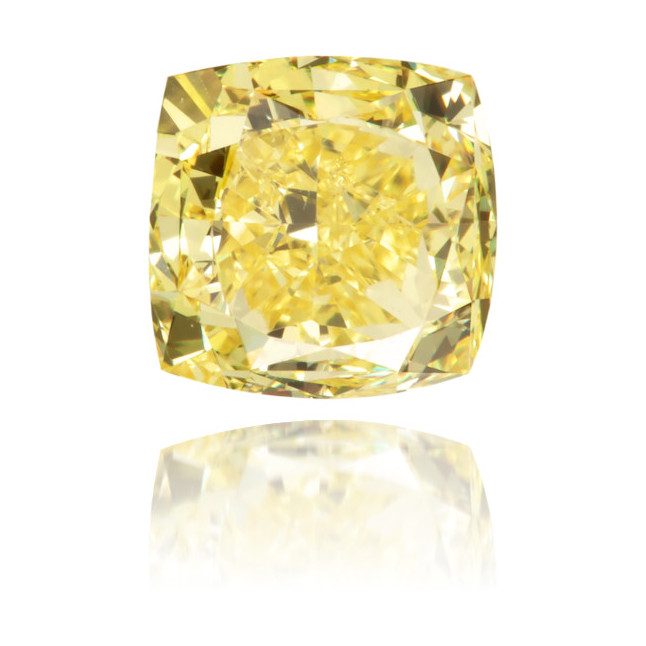 Natural Yellow Diamond Square 0.92 ct Polished