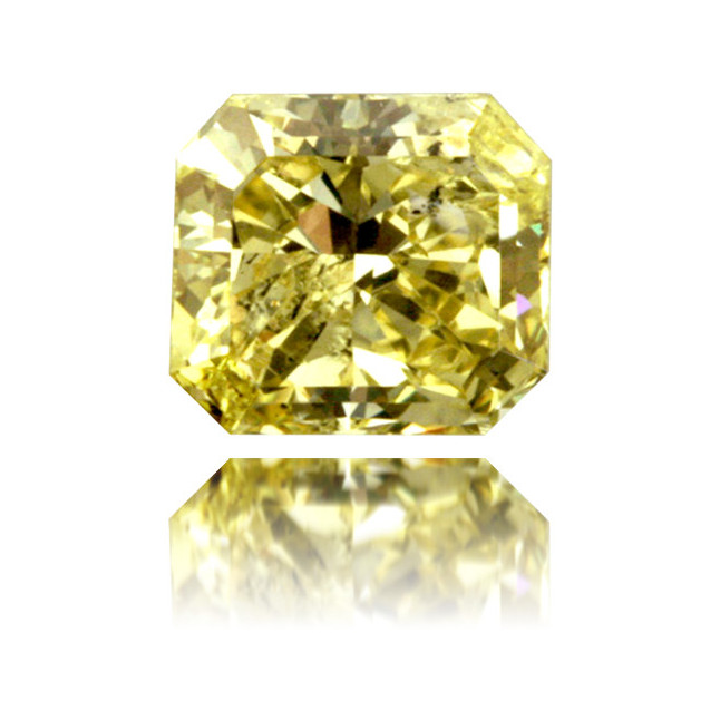 Natural Yellow Diamond Square 0.91 ct Polished