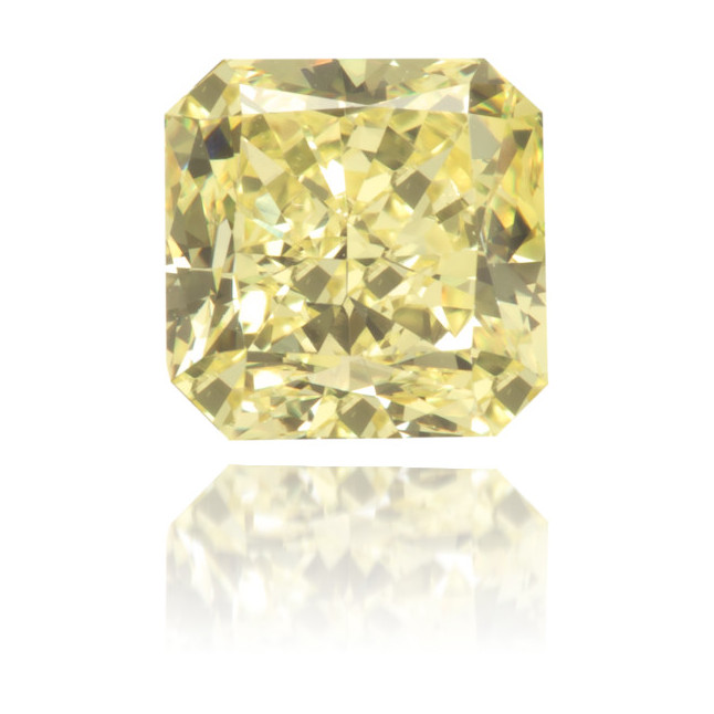 Natural Yellow Diamond Square 0.94 ct Polished