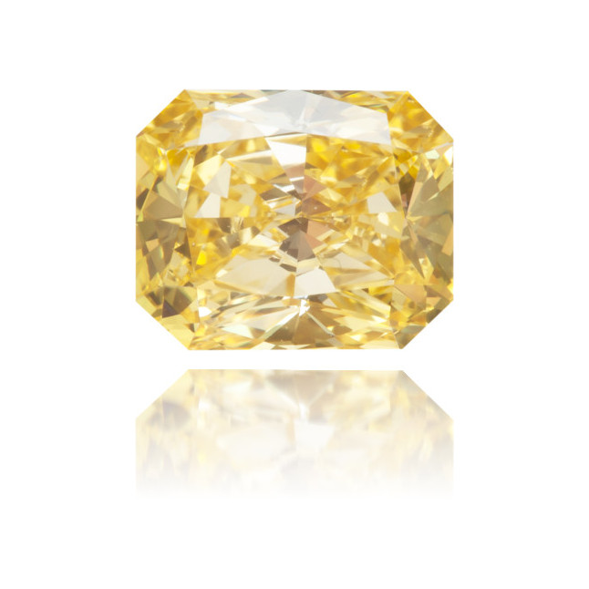 Natural Yellow Diamond Rectangle 0.96 ct Polished
