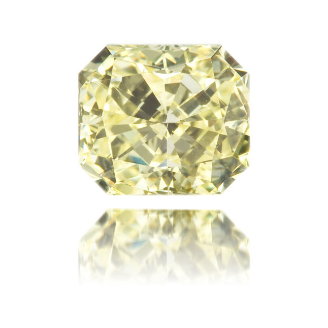 Natural Yellow Diamond Square 0.97 ct Polished