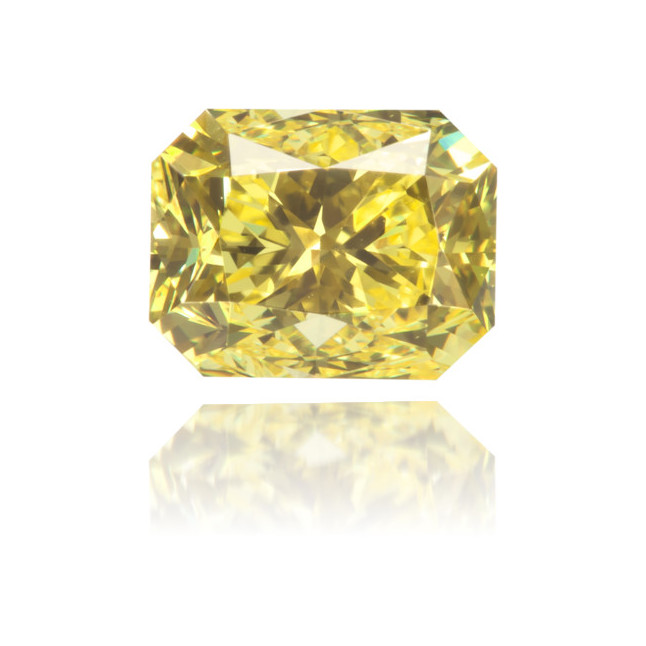 Natural Yellow Diamond Rectangle 1.00 ct Polished