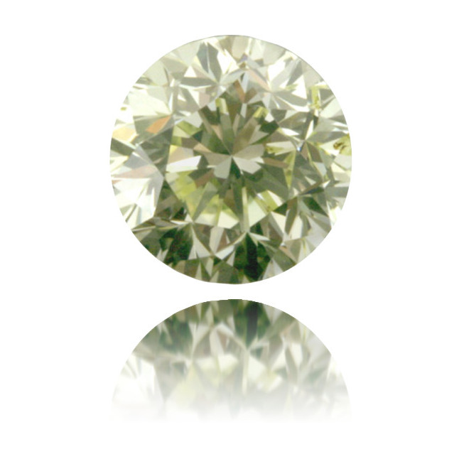 Natural Green Diamond Round 0.99 ct Polished