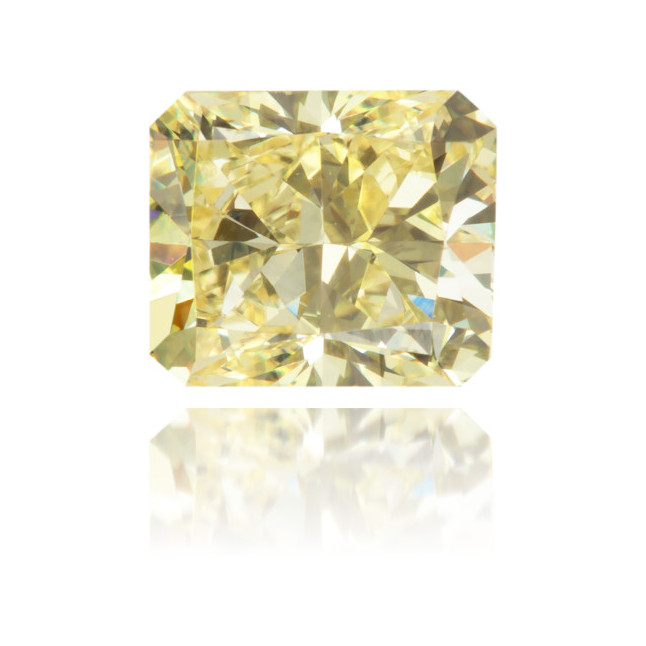 Natural Yellow Diamond Rectangle 0.95 ct Polished