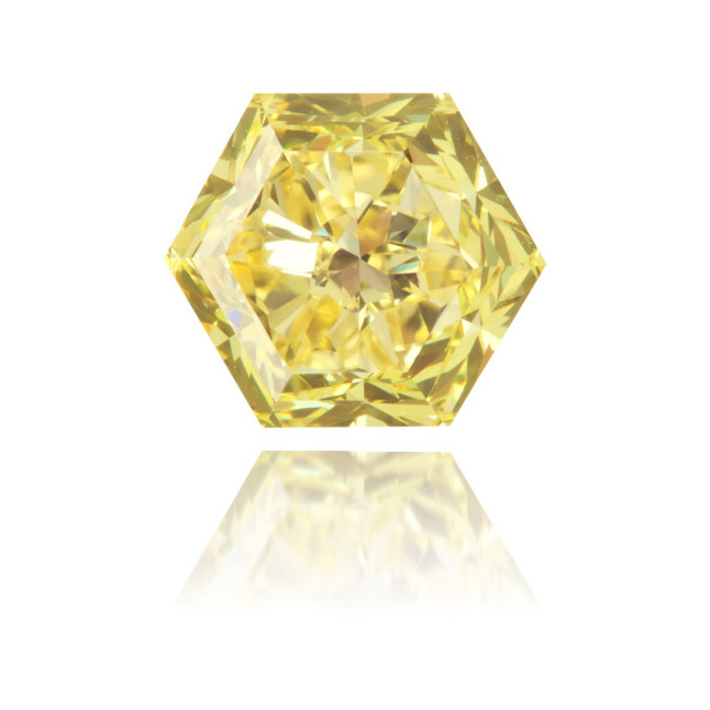 Natural Yellow Diamond Hexagon 1.00 ct Polished