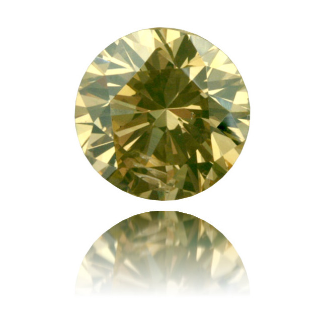 Natural Brown Diamond Round 1.00 ct Polished