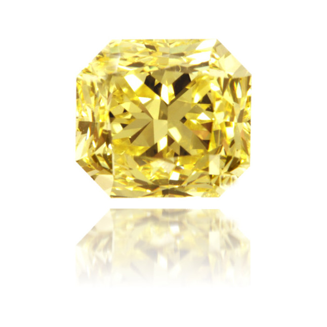 Natural Yellow Diamond Square 1.00 ct Polished
