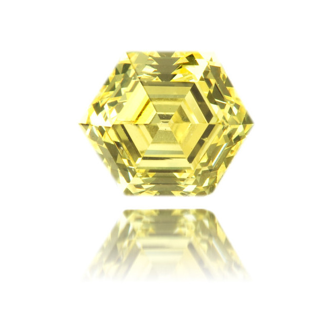 Natural Yellow Diamond Hexagon 1.01 ct Polished