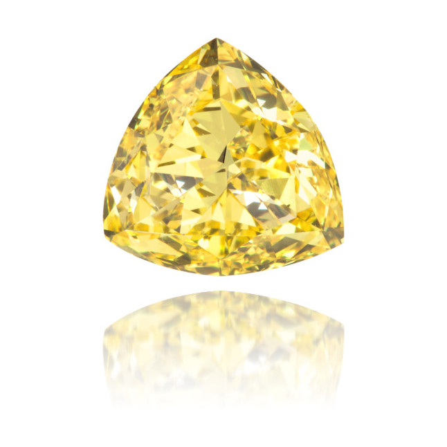 Natural Yellow Diamond Triangle 1.01 ct Polished