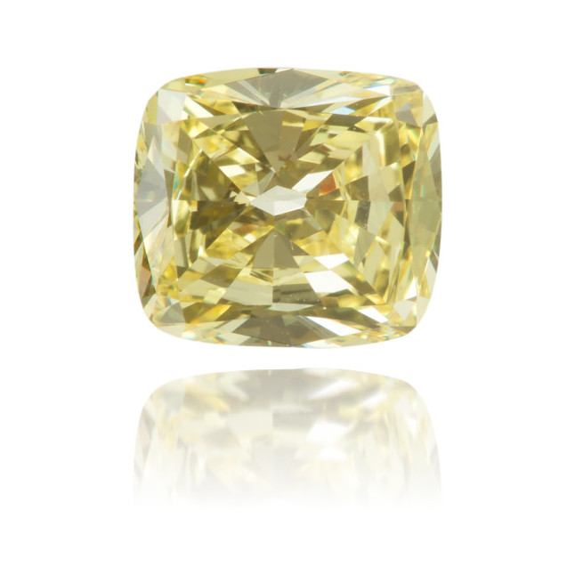 Natural Yellow Diamond Square 1.02 ct Polished