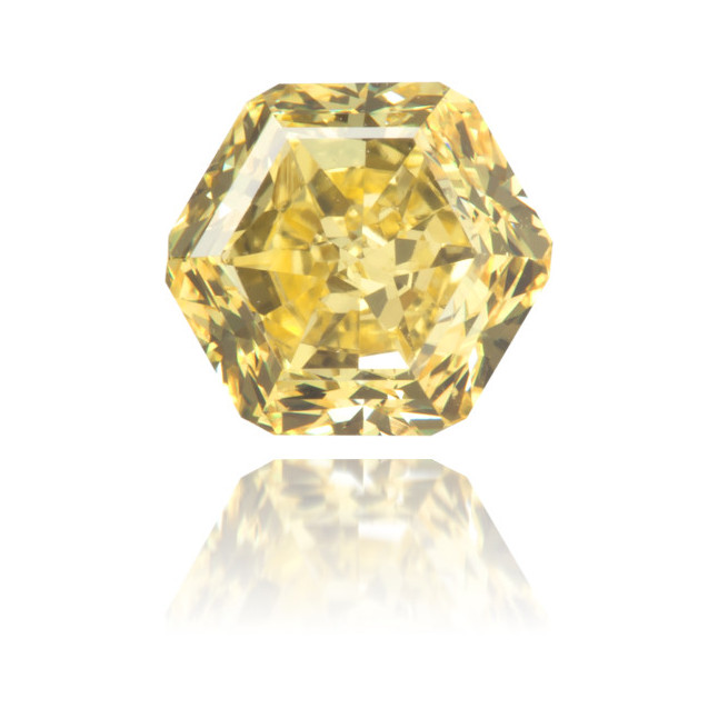 Natural Yellow Diamond Hexagon 1.02 ct Polished