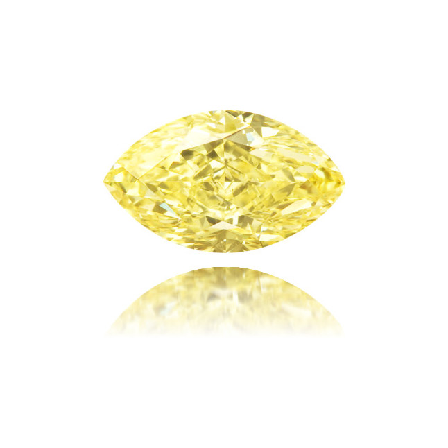 Natural Yellow Diamond Marquise 1.02 ct Polished