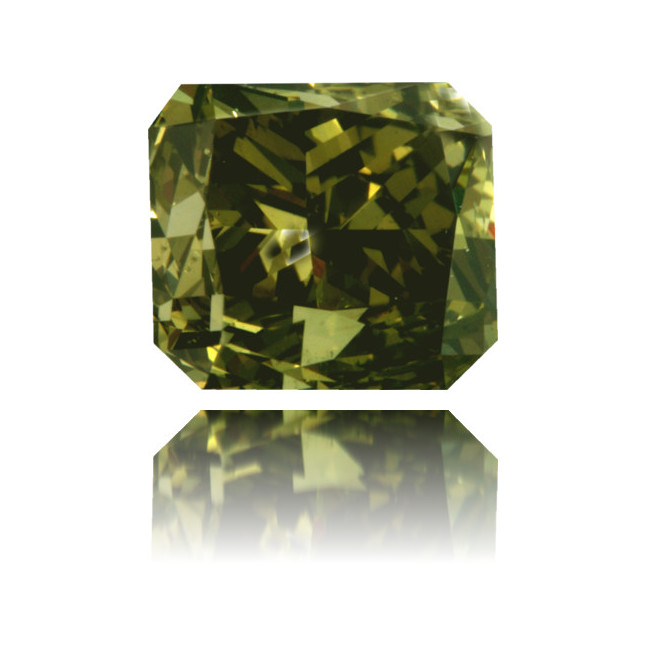 Natural Green Diamond Rectangle 1.02 ct Polished